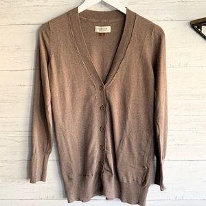 Sonoma Small Sweater Cardigan Taupe Tan Brown